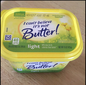 Photo of I Can't Believe It's Not Butter! Light 30% Vegetable Oil Spread uploaded by Ruzzy G.