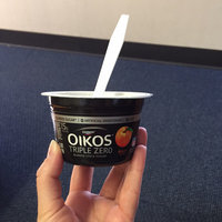 Dannon Oikos Triple Zero Nonfat Yogurt Peach uploaded by Savanah G.