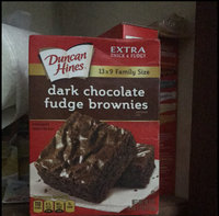 Duncan Hines Extra Thick & Fudgy Brownie Mix Dark Chocolate Family Size uploaded by Julia V.