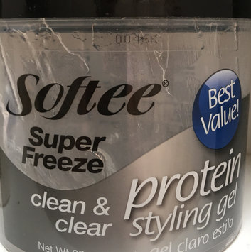 Photo of Softee Super Freeze Protein Styling Gel Best Value Clean and Clear 8 Oz uploaded by Pilar G.