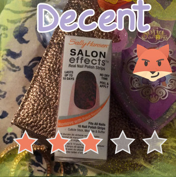 Photo of Sally Hansen® Salon Effects Real Nail Polish Strips uploaded by Del T.