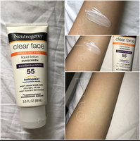 Neutrogena Clear Face Liquid Lotion Sunscreen Broad Spectrum SPF 55 uploaded by Andra L.