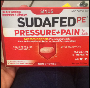 Sudafed PE Caplets Pressure + Pain for Adults Caplets uploaded by Brittney E.