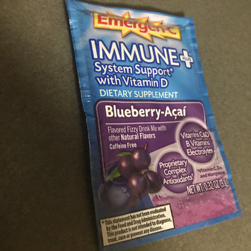 Photo of Emergen-C Immune+ System Support* with Vitamin D Blueberry-Acai uploaded by Kimberly M.
