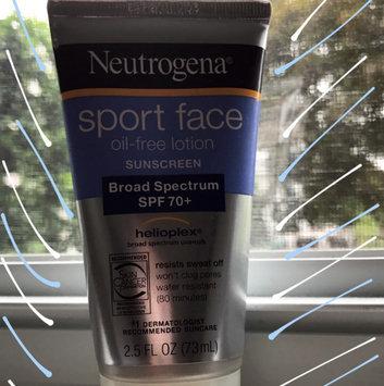 Photo of Neutrogena® Sport Face Oil-Free Lotion Sunscreen Broad Spectrum SPF 70+ uploaded by Brenda M.