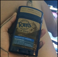Tom's OF MAINE Mountain Spring Men's Long Lasting Wide Stick Deodorant uploaded by Ella P.