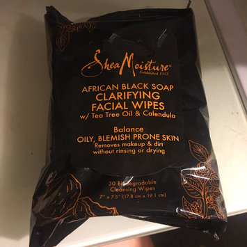 Photo of SheaMoisture African Black Soap Clarifying Facial Wipes uploaded by Abbey H.