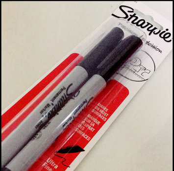 Photo of Sanford Sharpie 2ct Black Ultra Fine tip Permanent Marker uploaded by Asbah M.