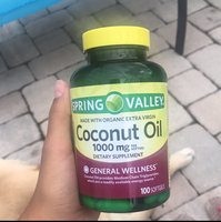 Spring Valley Coconut Oil Dietary Supplement, 1000mg, 100 count uploaded by Anna R.