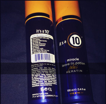 Photo of It's A 10 Miracle Leave In Potion Plus Keratin uploaded by Andrea T.