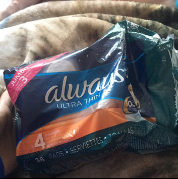 Photo of Always Ultra Thin Size 4 Overnight Pads With Wings Unscented uploaded by Rinoa C.