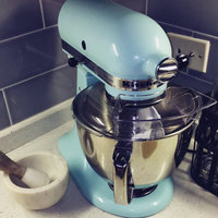... KitchenAid Artisan 5 Qt Stand Mixer  Aqua Sky KSM150 Uploaded By Carson  M.