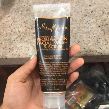 SheaMoisture African Black Soap Problem Skin Facial Wash & Scrub uploaded by Sheryl B.