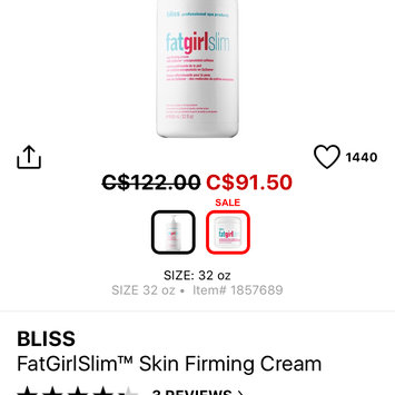 Photo uploaded to bliss fatgirlslim skin firming cream by Kayleigh L.
