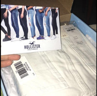 Hollister Ripped White High-Rise Super Skinny Jeans uploaded by Elicia M.