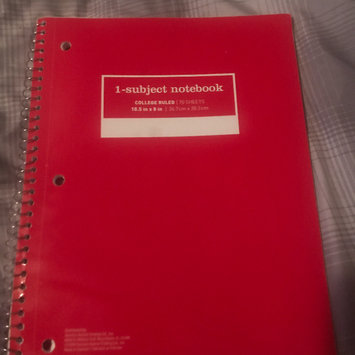 Staples 1 Subject Spiral Notebook, Wide Rule, Assorted Colors (Pack of 10) uploaded by Marjorie S.