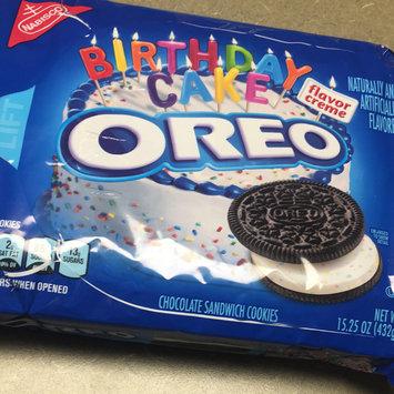 Oreo Birthday Cake Chocolate Sandwich Cookies uploaded by Taylor C.