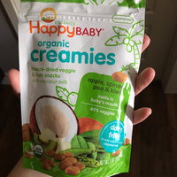 Happy Baby Happy Creamies Organic Snacks Apple Spinach Pea Kiwi Case of 8 1 oz uploaded by Megan W.