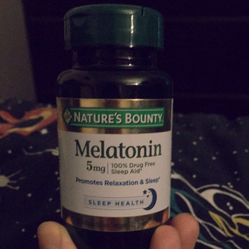 Nature's Bounty Melatonin Super Strength 5mg Sleep Aid Dietary Suppelement Rapid Release Liquid Softgels - 60 CT uploaded by Alyssa A.