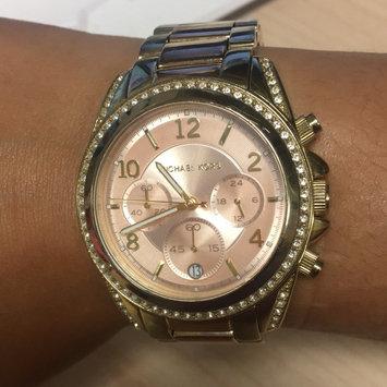 Michael Kors Micheal Kors Gold Runway Glitz Watch MK5166 [Gold] [{