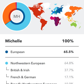 Photo of 23andMe uploaded by Michelle H.