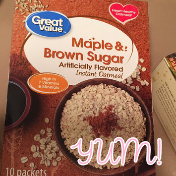 Photo of Great Value™ Maple & Brown Sugar Instant Oatmeal 15.1 oz. Box uploaded by Wendy C.