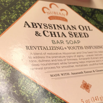Photo of Nubian Heritage Abyssinian & Chia Bar Soap uploaded by Fran F.