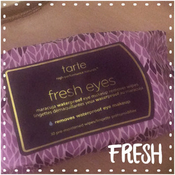 Photo of tarte Fresh Eyes Maracuja Waterproof Eye Makeup Remover Wipes uploaded by Dominique N.