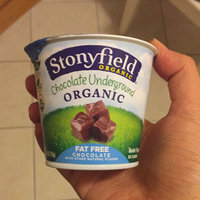 Stonyfield Organic Chocolate on the Bottom Fat Free Nonfat Yogurt Vanilla over Chocolate uploaded by Hannah B.