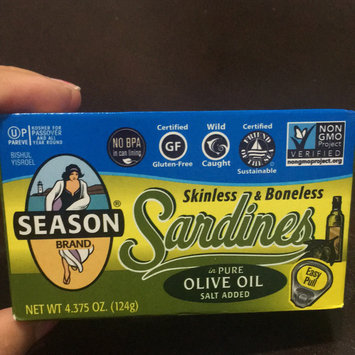 Photo of Season Imported Sardines in Pure Olive Oil Skinless & Boneless Salt Added uploaded by Tania T.