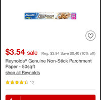 Reynolds® Cookie Baking Sheets Parchment Paper uploaded by Sarah M.