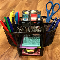 Rolodex Steel Mesh Pencil Cup Organizer with Eight Compartments - uploaded by Hope S.