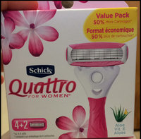 Schick Quattro for Women Aloe Value Pack with 6 Razor Blade Refills uploaded by Brianna P.