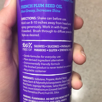 Photo of Not Your Mother's® Naturals Linseed Chia Blend & French Plum Seed Oil Volume Boost Tapioca & Rice Dry Shampoo uploaded by Kimberly R.