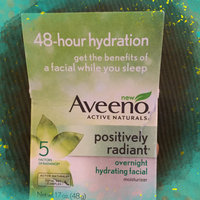 Aveeno Positively Radiant Overnight Hydrating Facial Moisturizer uploaded by Aimeeh L.