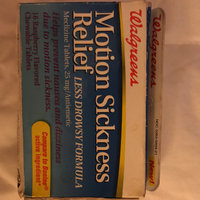 Walgreens Motion Sickness Relief Chewable Tablets uploaded by Dee B.