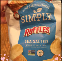 Ruffles® Simply Natural Sea Salted Reduced Fat Potato Chips uploaded by L E.