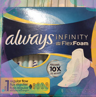 Always Infinity Size 1 Regular Pads with Wings Unscented uploaded by Camz A.