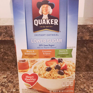 Photo of Quaker® Lower Sugar Instant Oatmeal Maple And Brown Sugar uploaded by Brittani O.
