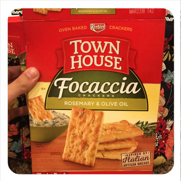 Keebler® Town House® Focaccia Rosemary & Olive Oil Crackers 9 oz. Box uploaded by Brittani O.