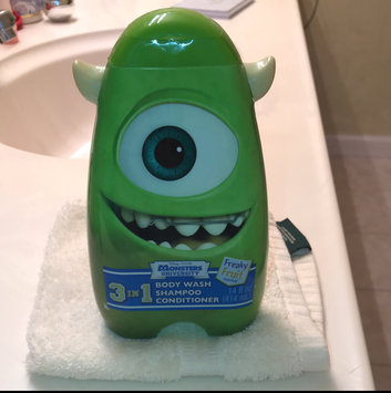 Photo of Disney Pixar Monster University Scary Berry/Freaky Fruit/Wacky Bubble Gum 3 in 1 Body Wash, Shampoo & Conditioner, 14 fl oz (Character and Scent Will Vary) uploaded by Jan a.