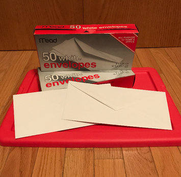 Photo of Mead No. 10 White Envelopes 4 1/8in x 9 1/2in - 50 CT uploaded by Hope S.