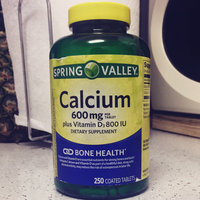 Spring Valley Natural Easy to Swallow 600 mg With Vitamin D Bone Health Calcium Dietary Supplement, 250 ct uploaded by Laurie L.