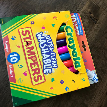 Photo of Crayola 10ct Ultra Clean Expression Stamper Markers uploaded by Marium S.