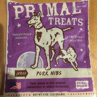 Primal Jerky Pork Nibs Dog & Cat Treats, 4-Ounce Bag uploaded by Jessica P.