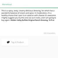 Hidden Valley Buffalo Original Ranch Dressing, 16 fl oz uploaded by Natalie W.