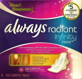 Always Radiant Infinity Pads with Flexi-Wings uploaded by Brittney P.