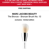 MARC JACOBS BEAUTY The Bronze Bronzer Brush uploaded by Jackie O.