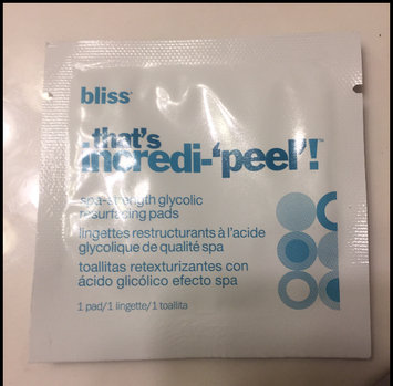 Photo of Bliss Thats Incredi Peel! Glycolic Resurfacing Pads uploaded by Katherine V.