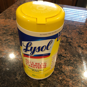 Photo of Lysol Disinfecting Wipes - Lemon uploaded by Nora G.